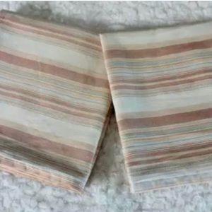 Tommy Bahama Rust Cream Stripes King Pillow Shams